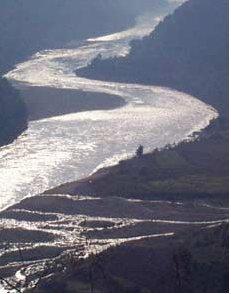 Một khúc sông Mekong. Ảnh: AP