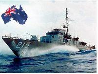 Chiến hạm ngoài khơi nước Úc (DR)
