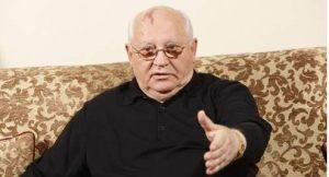 Mikhaïl Gorbatchev tại cuộc phỏng vấn với Le Figaro ở Genève, Thụy Sĩ