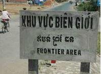 Một khu vực ở biên giới giữa Việt Nam và Cam Bốt (Ảnh : DR)