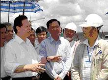 Thủ tướng Nguyễn Tấn Dũng thị sát công trường bauxite